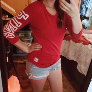 LN Victoria's PINK Shirt XS Red